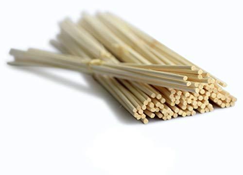 Losse bamboe stokjes 100 stuks - bamboestokjes - rotan geurstokjes - navulling refill sticks - intensieve - verse & langdurige geur - diffuser - luchtverfrisser - huisparfum - geurolie - geurverspreider van Aromatika.