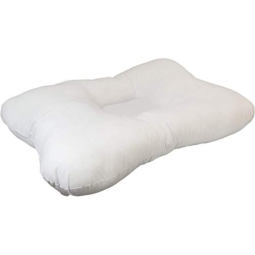 "Roscoe Cervical Pillow and Neck Pillow For Sleeping - Indented Contour Pillow for Sleeping on Back or Side - 16"" x 23"", Firm"