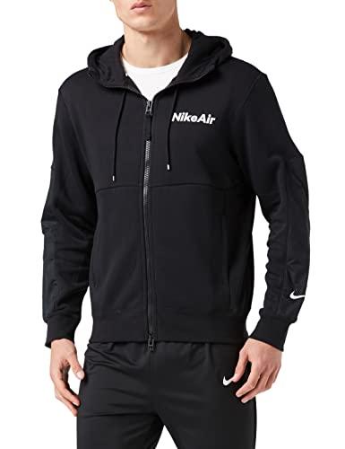 Nike Męska bluza M Nsw Nike Air Hoodie Fz Flc Sweatshirt czarny czarny/czarny/czarny/czarny/(biały) m