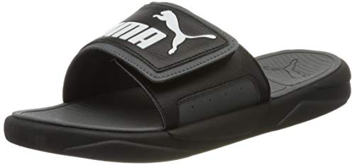 Puma Unisex-Erwachsene Royalcat Comfort Zapatos de Playa y Piscina, Schwarz Black-Castlerock White, 46 EU