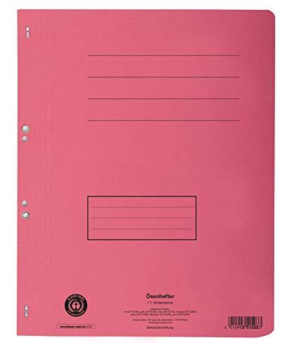Exacompta 351503B Packung mit 50 Ösenhefter Forever aus Recycling-Karton, 250 g/qm, mit vollem Deckel, Behörde und kaufmännische Heftung, praktisch und robust, 50er Pack, rot