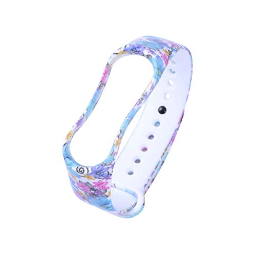 UKCOCO Stilvolle Mode kühlen schützenden Ersatz Silikon Wriststrap Wrist Strap Wristlet für Miband 3 Xiaomi 3 Smart Armband himmelblau