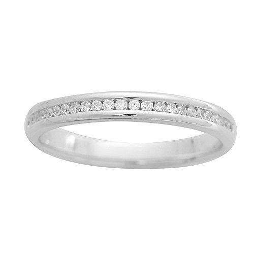 Antwerp Jewels ring ring houder 750 witgoud gerhodineerd diamant (0,15 ct) wit rond geslepen maat 53 (16.9) - AJR20425-53