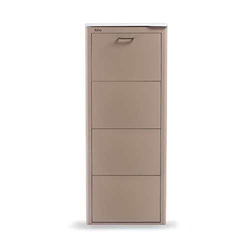 DON HIERRO - Mueble zapatero metálico KIBO, 4 Compartimentos, 3 colores