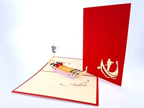 Venise gondole di San Marco Italie 3D Pop Up Cartes de vœux Anniversaire bébé Anniversaire de Pâques Halloween Mother's pères New Home Nouvel an Thanksgiving Saint Valentin Mariage de Noël