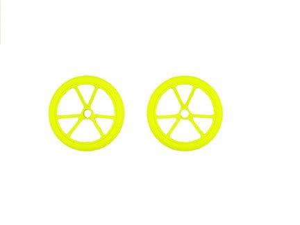 Fisher-Price Hot Wheels RC Sky Shock Vehículo – Ruedas traseras de Repuesto Amarillas