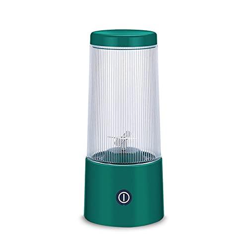 XKMY Juicer Cup 350 ml exprimidor eléctrico portátil licuadora de batidos de 4 cuchillos, recargable pequeño procesador de alimentos exprimidores de batidos (color verde)