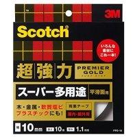 3M スコッチ 超強力両面テープ プレミアゴールド (スーパー多用途) 10mm×10m 1巻