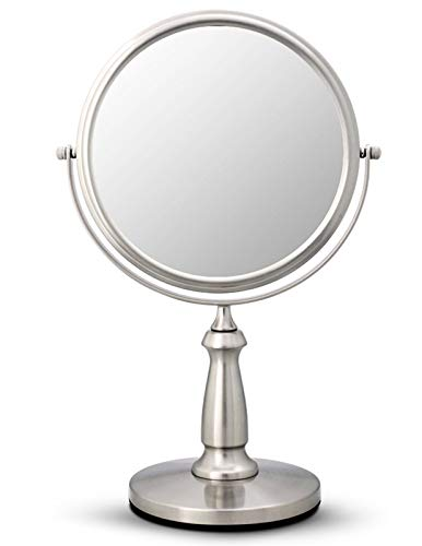 ZHMIRROR Miroir grossissant grossissant sur 2 côtés pivotant à 360°