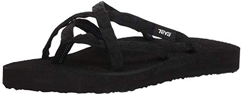 Teva Women's Olowahu Flip-Flop - 9 B(M) US - Mix Black on Black