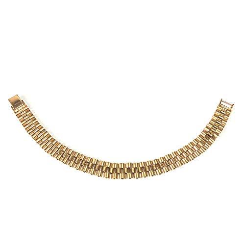Pulsera Rolex Link de oro amarillo de 14 quilates para hombre, 8.5 pulgadas