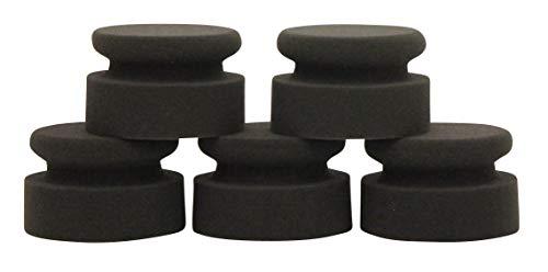 CLEANOFANT Versiegelungs-Maus ANTHRAZIT-super-Soft - 5 Stück - Hand-Versiegelungs-Schwamm für Wohnwagen, Wohnmobil, Caravan