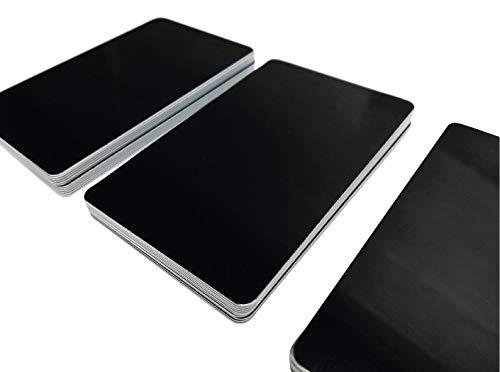 100 Premium Plastikkarten/PVC Karten Schwarz glänzend, 5-500 Stück, Rohlinge, blanko, Kartendrucker, NEU! (100)