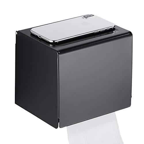 Porte-papier De Toilette Gratuit Poinçonnage Noir Boîte De Papier Imperméable À L'eau De Salle De Bains