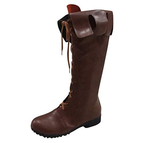 serliy😛Damen Stiefel Kurzschaft Stiefel Reißverschluss Langschaftstiefel Plateau Boots Blockabsatz Flandell Paar Mode Schuhe Stiefel Cross Schnürschuhe Mit Flachem Boden Mittelrohrstiefel