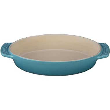 Le Creuset Stoneware Oval Dish, 1-3/4-Quart, Caribbean