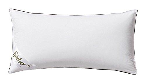 Fjödur Kopfkissen weiß, 100% Baumwolle, Federn & Daunen Klasse 1, versch. Ausführungen, Made in Germany, Größe:40 x 80 cm, Stützkomfort:Fest