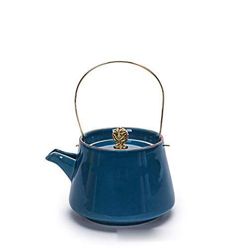 ZYX Teapot, Camping teapot, 240ml Portable Ceramic teapot, 6 Colors to Choose from, Suitable for Camping, Hiking, Office, navyblue