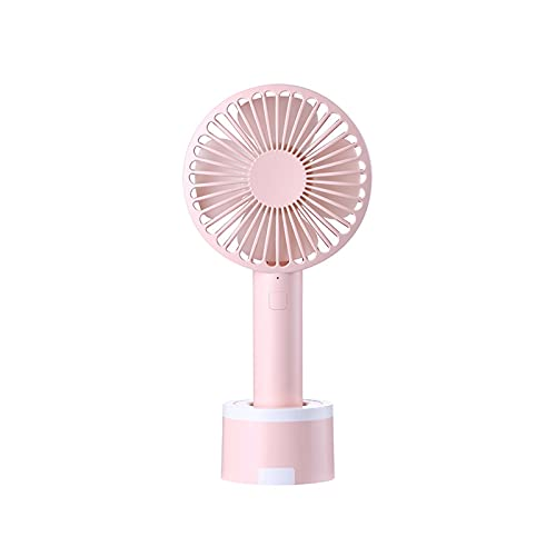 GYY Ventilador Al Aire Libre De Mano Portátil con Soporte De Teléfono Móvil Fan De Carga De Escritorio (Color : Pink)