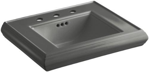 KOHLER K-2239-8-58 - Lavabo con pedestal para baño con centros de 8 pulgadas, color gris