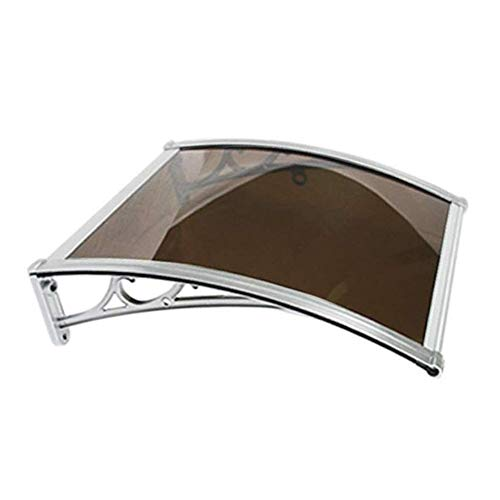 Canopy Door Awning Window Rain Snow Shelter Front Porch Outdoor Shade Rain Snow Patio Porch Shade Roof Cover (Color : Brawn, Size : 60X80cm)