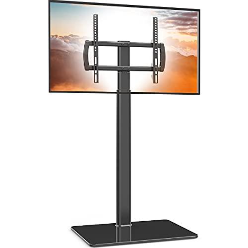 Soporte universal para TV con soporte giratorio de 80 grados, altura ajustable y función de inclinación para LCD de 27 a 55 pulgadas, LED OLED TV, HT1002B