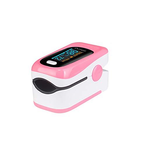 WANGXN Finger Pulsoximeter Tragbar mit Alarmfunktion Blutsauerstoffsättigungsmonitor Oximeter Finger,Pink