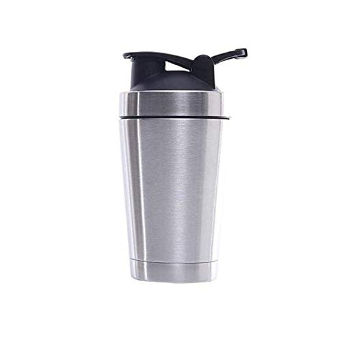 XinLuMing Protein Shaker Bottle, Stainless Steel, Two Layers, Heating, Travel Mug, Outgoing Facility (Size : 500ml)
