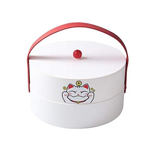 YANGYUAN Caja de Almacenamiento Creativo Bandeja Multifuncional de bocadillos de Fiesta con Tapa, sirviendo Platos para Frutas secas nueces Caramelos, 5-Compartimento
