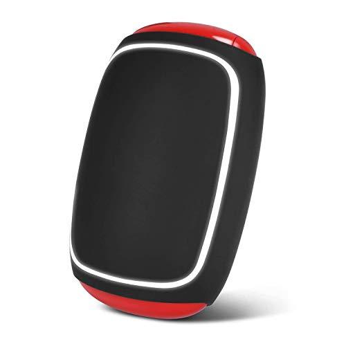 PEYOU Chauffe-Mains Rechargeable USB 7800mAh Portable Power Bank Batterie Externe Chaufferette avec 7-Color éclairage LED Main Électrique Poche Réchauffeur pour iPhone,Samsung,ipad,Android(Noir)