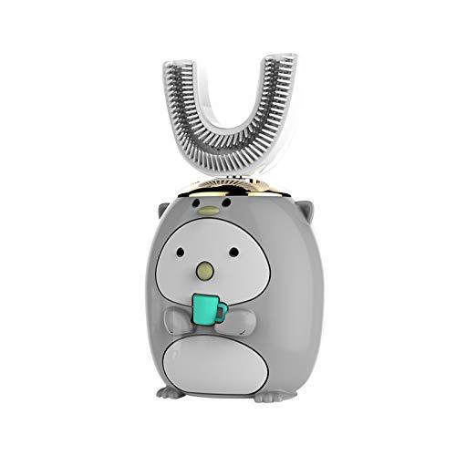 Cepillo de Dientes eléctrico para niños , Cepillo de Dientes automático ultrasónico de Carga inalámbrica en Forma de U Cepillo de Dientes de Limpieza Inteligente (B, # 6-14 años)