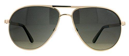 0144 28D Silver 0144s Aviator Sunglasses Polarised Lens Category 3, Shiny Rose Gold, 58-13-140