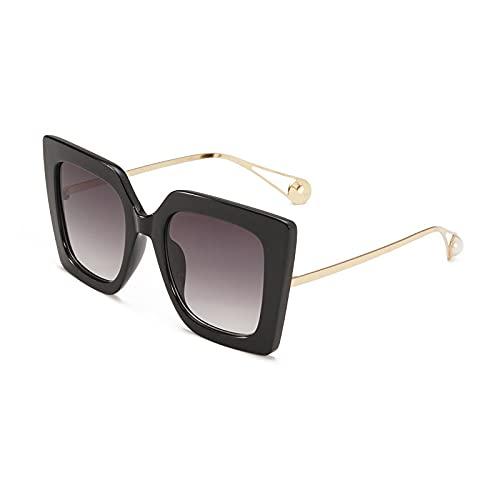 Gafas de Sol Gafas De Sol De Gran Tamaño para Mujer Y Hombre, Montura De Leopardo, Vintage Retro, Ojo De Gato, Gafas De Sol Cuadradas De Aleación, Lente Transparente para Mujer, Uv400 C2