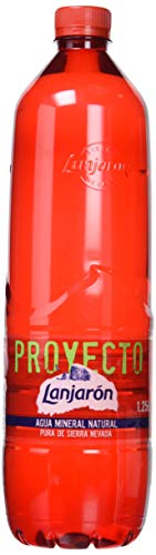 Lanjarón, Agua Mineral Natural botella 100% plástico reciclado - Pack de 6 x 1,25L