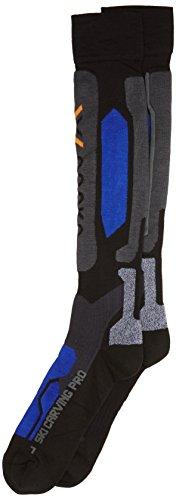 X-Socks Funktionssocken Ski Carving Pro, Black/Cobalt Blue, 35/38