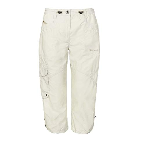 G.I.G.A. DX Capri fenia para Mujer Cargo 3/4 de Verano Bermuda pantalón Corto con Bolsillos-Cintura Ajustable, Dark Navy, 38