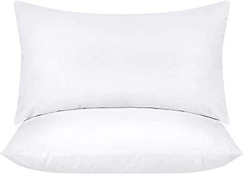 Utopia Bedding 2er Set Kissenfüllung 30 x 50 cm - Baumwollmischung Bezug - Innenkissen Füllkissen Kopfkissen Sofakissen (Weiß)