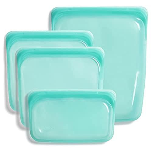 Stasher Platinum Silicone Food Grade Reusable Storage Bag, Aqua...