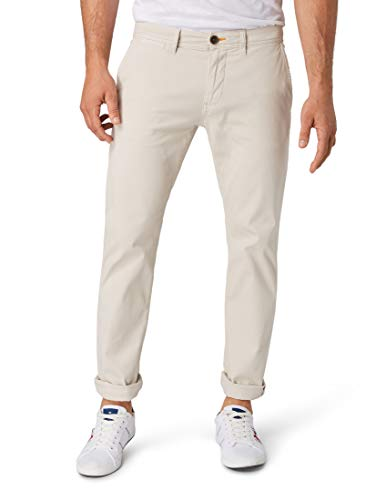 TOM TAILOR Herren Hosen & Chino Travis Regular Chino Clouds Grey,34/32