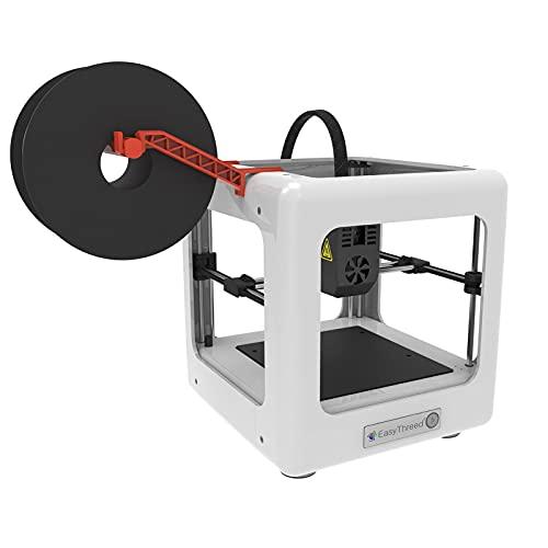 Mini impresora 3D de escritorio Impresora 3D de calidad para el consumidor Tarjeta TF y cable USB Impresora 3D Consumibles PLA Impresora 3D 90 * 100 * 110 mm Tamaño de impresión(Enchufe de la UE)