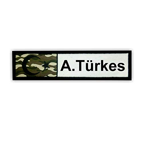Türk Asker Patch camouflage met gewenste text I eenvoudig aanpassen I met klittenbandsluiting I Turk Turkey Patch Sticker Jacket broek T-shirt Turkey speciale eenheid