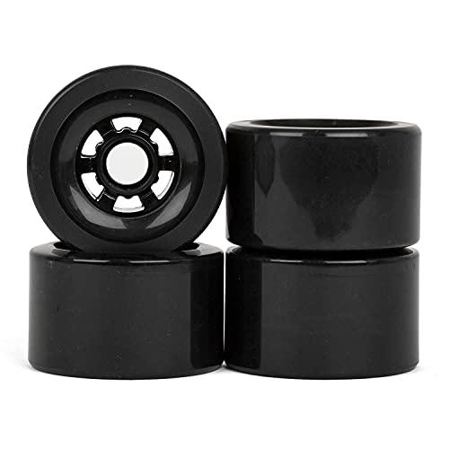 Longboard Rollen 90mm Wheels schwarz große 83A - auch als Elektro Antriebs-Rollen
