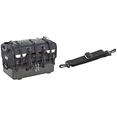 タナックス MOTOFIZZ グランド シートバッグ ブラック 容量70?(上部40?/下部30?) MFK-222 & サイドバッグ用パーツ ショルダーベルト MP-12【セット買い】
