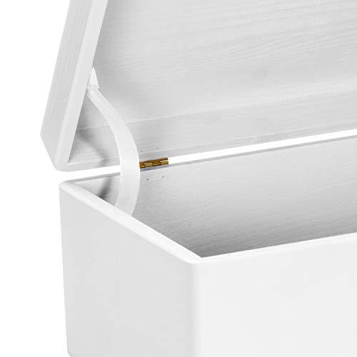 LAUBLUST Holzkiste zur Hochzeit - Florale Raute - Geschenkkiste Personalisiert mit Gravur - ca. 30x20x14cm, Weiß, FSC® - 4
