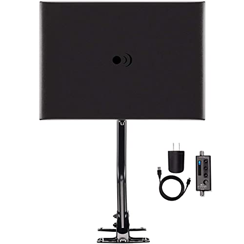 Antennas Direct ClearStream Fusion Amplified UHF/VHF Indoor/Outdoor HDTV Antenna with 20-Inch Mast, Black (Renewed). Buy it now for 61.98