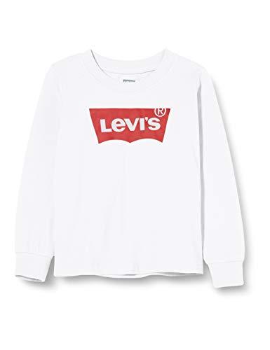 Levi's Kids Lvb L/S Batwing Tee Maglia a maniche lunghe Bambino Bianca 12 anni