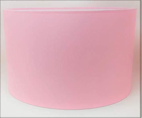Zylinder Lampenschirm Baumwolle Stoff handgefertigt für Deckenleuchte, Tischleuchte, Stehlampe (Rosa, 25 cm Durchmesser 20 cm Höhe)