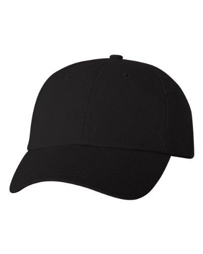 Joe's USA(tm Cotton Dad Hat Adjustable Plain Cap Low Profile-Black
