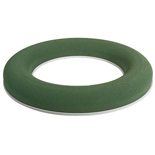 CRAFTY CAPERS 30cm Wet Oasis Wreath Ring with Plastic Base for Fresh Flower Floristry Crafts