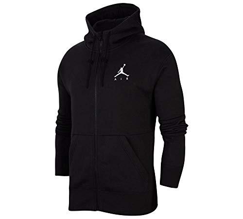 Nike M J Jumpman Fleece FZ Felpa, Uomo, Black/Black/Black/(White), XL